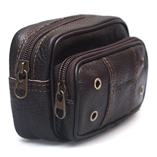 Mens Leather Bum Bag Waist Pack Travel Small Purses Cigarette Case Wallet 0012