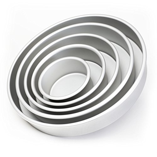Last Confection 5-Piece Round Cake Pan Set - Includes 4