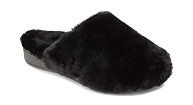 7144552a7783 Vionic Women s Indulge Gemma Plush Slipper - Ladies Adjustable Slipper with  Concealed Orthotic Arch Support Black