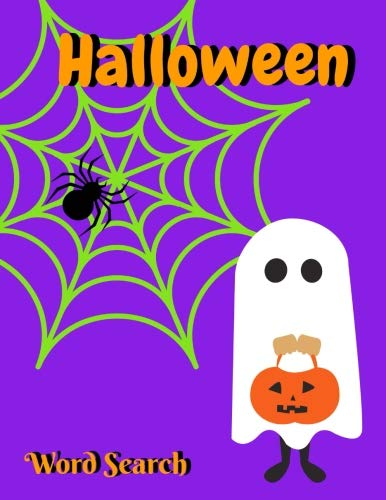 Halloween Word Search: Activity Book for Kids and