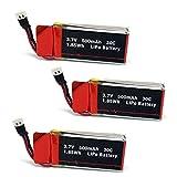 3pcs Genuine 30C 3.7V 500mAh Rechargeable Lipo Batteries for Cheerwing CW4 U42W U45 U45W RC Drone
