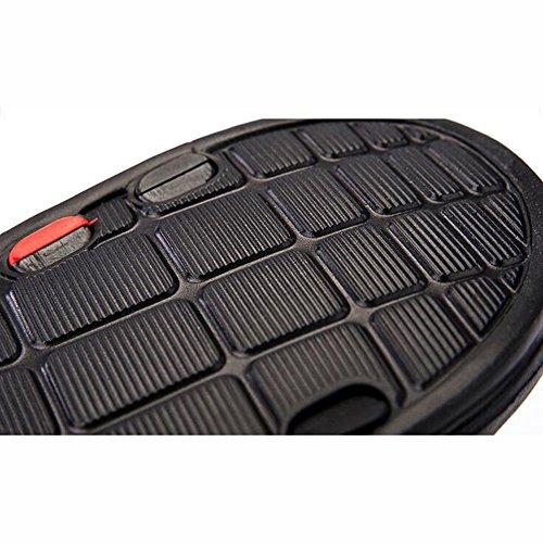 XIAOLIN Zapatillas Hombres Tendencias Coreanas de Verano Sandalias de Playa Joker Sandalias de Baño Zapatillas de Casa (Tamaño Opcional) ( Color : Negro , Tamaño : EU40/UK7/CN41 ) Negro