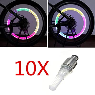 10 Pair Bike Bicycle LED Wheel Lights Lamp Valve Core Light
