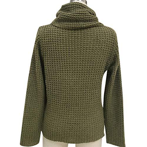 Loisirs en molletonn en Pull Chemise Bellelove Tricot Dames Vrac Tricots Tricoter Tops Solide Femmes Manches Blouse Vert Pull Longues lgantes PwwgO6q