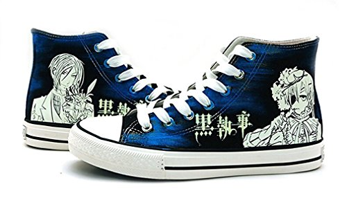 Bromeo Black Butler Unisexe Toile Salut-Top Sneaker Baskets Mode Chaussures Lumineux
