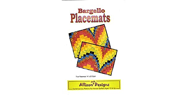 Bargello Placemats Pattern by Allison Quilt Designs