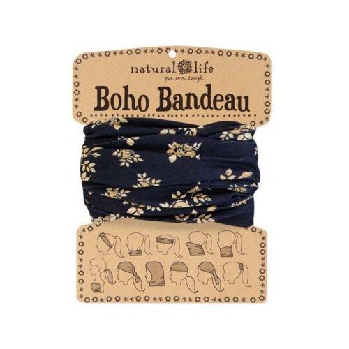 Natural Life Boho Bandeau, Black/Cream Floral