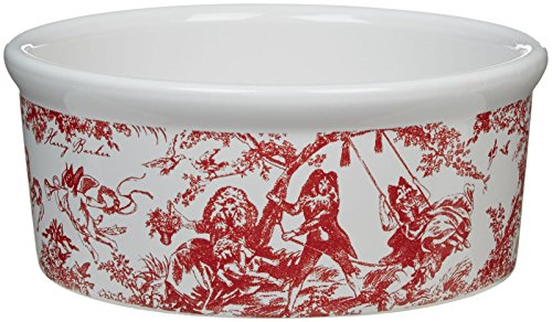 Harry Barker Toile Ceramic Bowl – Red – Small