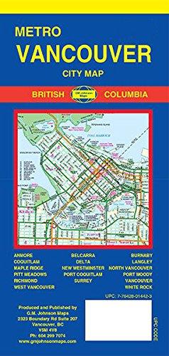 Metro Vancouver City Map Vancouver Canada Gm Johnson
