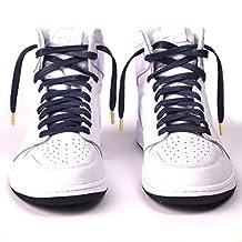 "Premium Flat Waxed Cotton Laces | Multiple Color Combinations | Metal / Plastic Aglets | 63"" 54"" Length | 8mm / 6mm Width | Jordan Nike Adidas"
