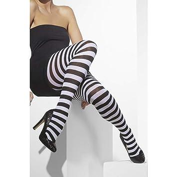 Smiffys 42761 Déguisement Femme Collant Opaque à Rayures fdd71881b88