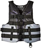 O'Neill Wetsuits Wake Waterski Womens Superlite USCG Life Vest, Black/Smoke/Black/UV, Small