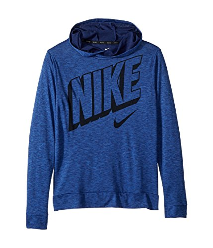 (NIKE Boys' Breathe Graphic Hoodie,(Blue Void/Game Royal,X-Large))