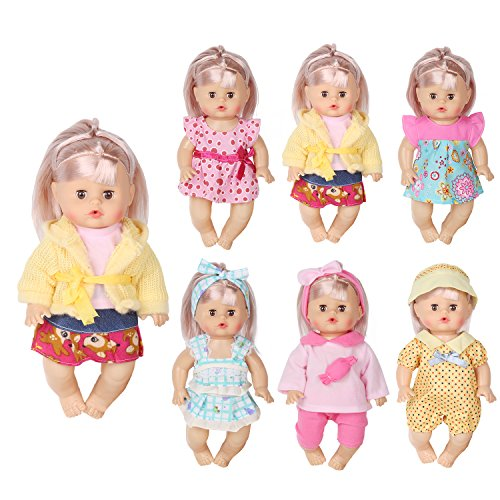 5cc8ebc22a0f4 Huang Cheng Toys Set of 6 For 12 Inch Alive Baby Doll Handmade Lovely Dress  Barbie Clothes Outfits Costumes