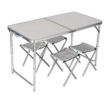 YUWEN 4 sillas Plegables Conjunto de Mesa Picnic al Aire ...