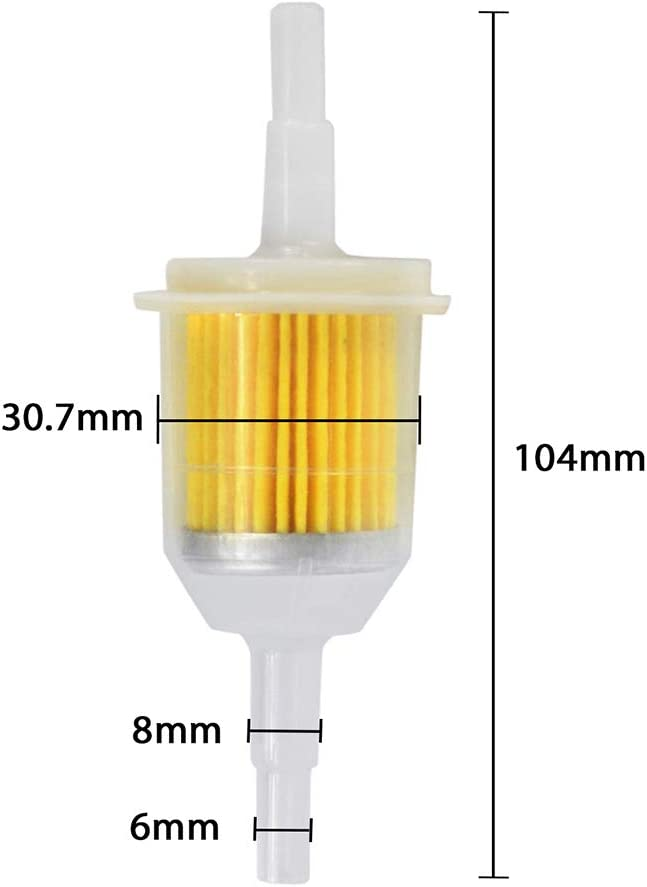 Zemoner 10 Pcs 6mm 8mm Filtre /à Carburant Universel Carburant Rapide de Filtre Pour Moto G/én/érateur Tondeuse