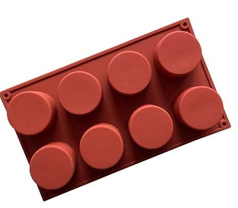 HOUTBY - Molde de silicona para tartas, galletas, chocolate, cubitos de hielo,