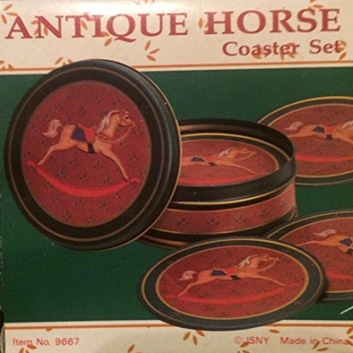 Antique Horse Coater Set w/Storing Tin ()