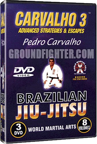 World Martial Arts Pedro Carvalho Series 3, Brazilian Jiu-Jitsu Instructional DVDs- Escapes & Tournament Strategies