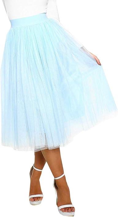 Kunfang 60cm Princesa Midi Falda de Tul Falda de Tutú de Baile ...