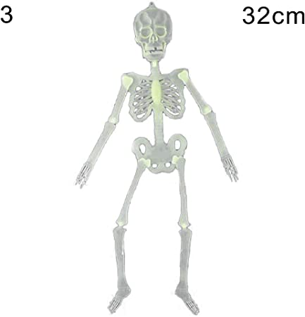 New Spooky Hanging Glow in the Dark Skeleton 32cm Halloween Party Decoration