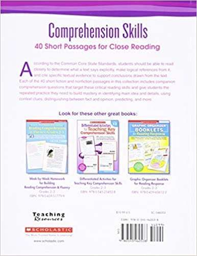 Comprehension Skills: Short Passages for Close Reading: Grade 2 ...