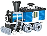 Mini Train - 59 pcs building blocks steam single window cabin armoured engine locomotive railway train set that will keep fun traveller excited longer - a gift for 6+ children, compatible parts