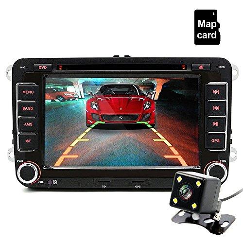 junsun autoradio 7 pouces VW 2 Din HD Bluetooth stéréo FM multimédia player Écran tactile USB / AUX Entrée AUX avec HD caméra de marche arrière divertissement de voiture 30%OFF