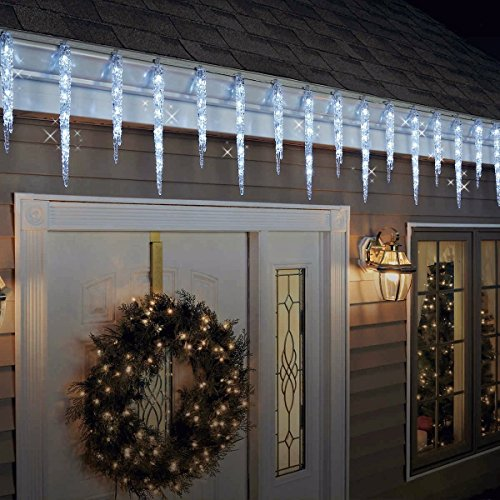 GE Energy Smart® Random Sparkle 100 LED Twinkling Ice Crystal Icicle Set, Crystal White - 20 ct.+ Bonus Surprise (Crackers Christmas Frozen)