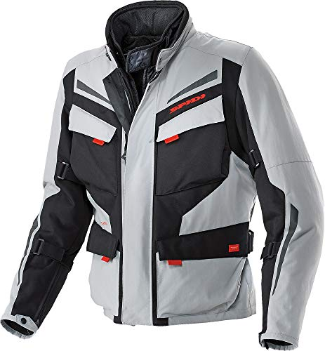 Spidi Sport S.R.L. Voyager 2 H2Out Jacket , Size: 3XL, Gender: Mens/Unisex, Apparel Material: Textile, Distinct Name: Black/Gray, Primary Color: Gray