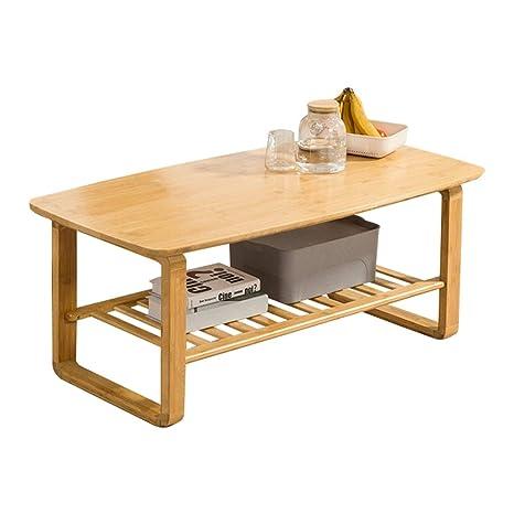 Mesas de café Mesa De Centro Corte De Bambú Sala De Estar ...