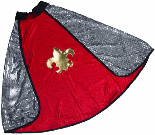 [Great Pretenders Reversible Red-Silver King-Knight Cape (Medium)] (Shining Knight Costumes)