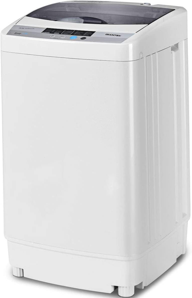 Giantex Full-Automatic Washing Machine Portable Compact 1.34 Cu.ft Laundry Washer
