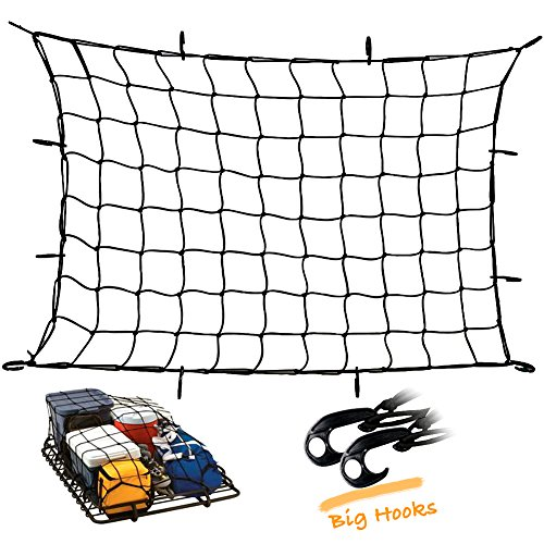 "Upgraded Latex Bungee Cord Cargo Net, Kindax 47"" x 36"" Cargo"