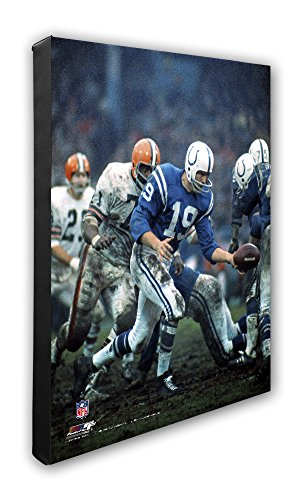 - NFL Indianapolis Colts Johnny Unitas Beautiful Gallery Quality, High Resolution Canvas, 16