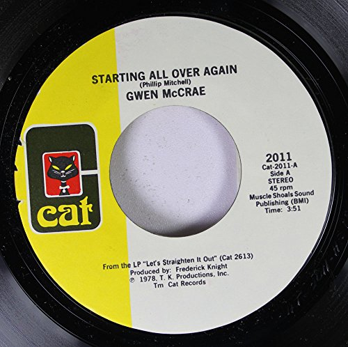 Price comparison product image GWEN MCCRAE 45 RPM Starting All Over Again / At Bedtime