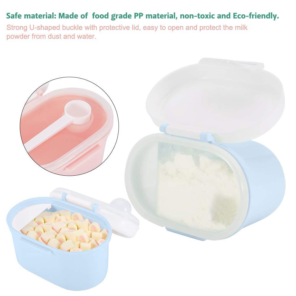 Baby Milchpulver Spender Kids Formula Seal Aufbewahrungsbox Container Micro K/ühlschrank Safe Kind S/ü/ßigkeiten Obst Snack Cup Kanister f/ür Reisen Picknick