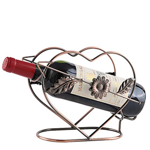 - KALENDS 18 Styles Wedding Metal Single Bottle Tabletop Wine Bottle Holder, Wine Rack, and Wine Accessory Home Decorative- Comes in Gift Box