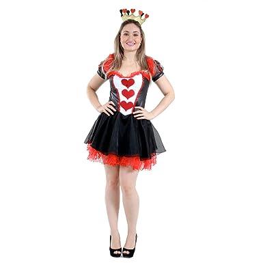 Abrakadabra - Disfraz de Reina de Corazones para Mujer, Talla ...
