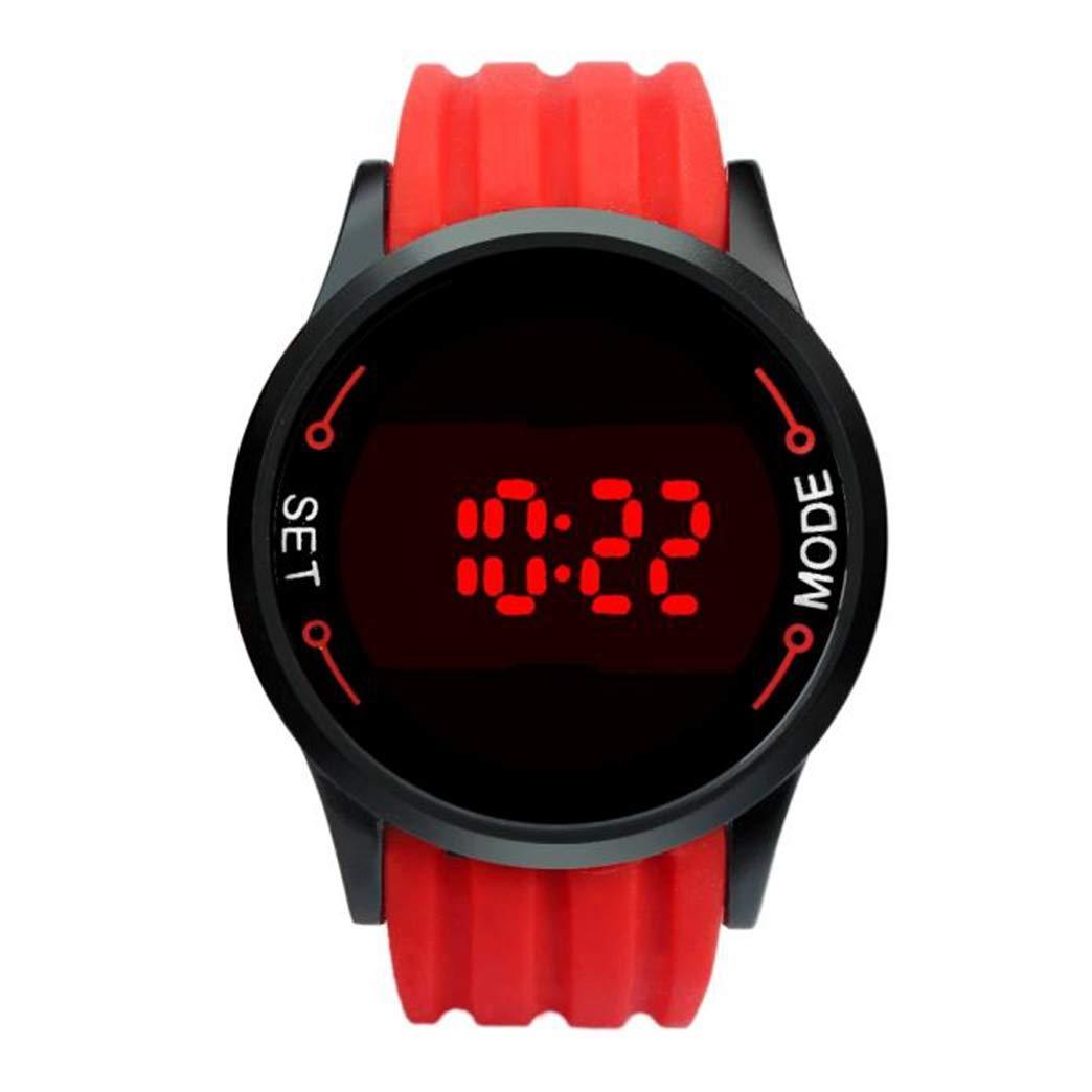 Mens Quartz Watch, VANSOON Unisex Fashion Waterproof Mens Watch LED Touch Screen Date Silicone Wrist Black Watch Digital Simple Business Waterproof Bracelet Watch
