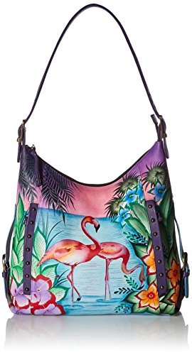 Anuschka Anna Hand Painted Leather Women'S Shoulder Hobo by Anna by Anuschka