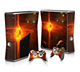 Xbox 360 Slim Skin Sticker Full Body Wrap Plus Two Matching Controller Skins Protects From Scratches Vinyl Decal Space Fire Star