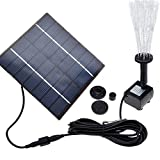 Wowdeal Solar Panel Power Water Pump Garden Plant Pool Submersible Watering Fountain Kit