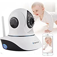 Wireless HD 720P WiFi Security Baby Monitor Camera System, Vstarcam D38 CCTV WiFi Surveillance Camera Nanny Cam with Pan Tilt Motion Detection Two Way Audio and Night Vision for Home Security System