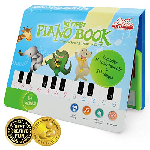 Instruments Learning Chart - BEST LEARNING My First Piano Book - Educational Musical Toy for Kids