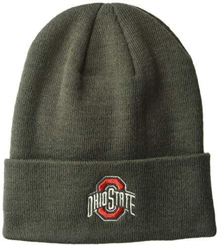 Top of the World Men's Cuffed Knit Hat Charcoal Icon, Ohio State Buckeyes, Adjustable (Ohio State Beanie Womens)