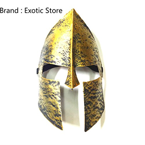 300 Costume Men For (Exotic Store Spartan 300 Warrior Motorcycle Masquerade Cosplay Costume Cartoon Outdoor Party Mask Funny Face Mask Halloween)
