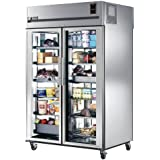 True STR2RPT-2G-2G Two Section Front/Rear Glass Doors Pass-Thru Refrigerator