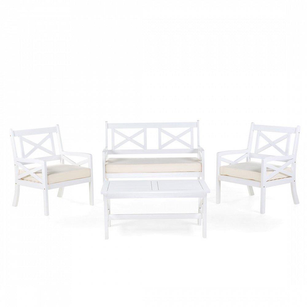 Gartenmobel Weiss Balkonmobel Terrassenmobel Holz Tisch