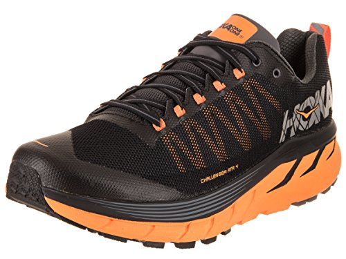 HOKA ONE ONE Mens Challenger ATR 4 Mesh Black Kumquat Trainers 8.5 US Review